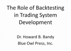 video of Role of Backtesting