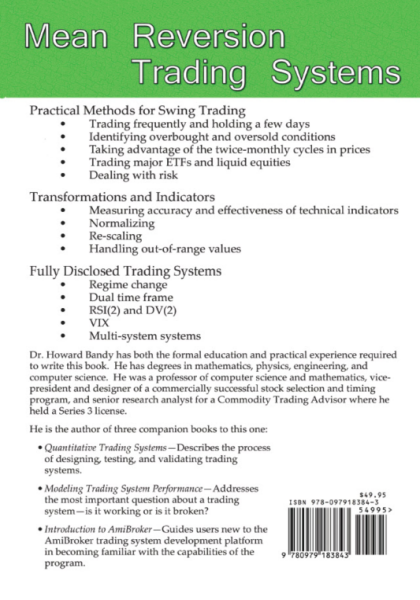 mean reverwsion trading system book back cover
