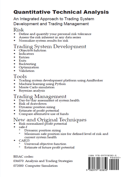 Quantitative Technical Analysis book back cover