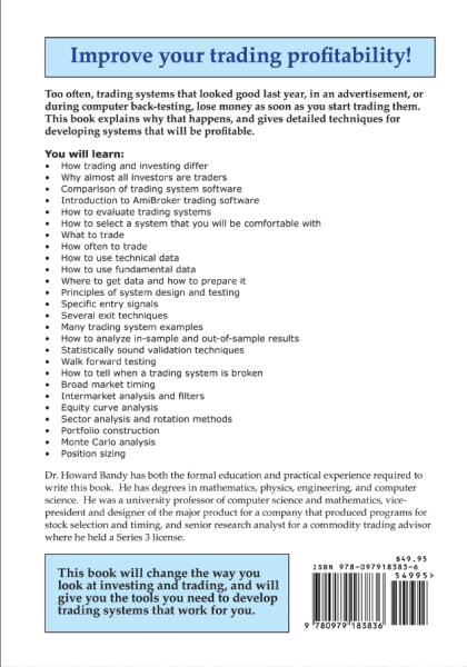 quantitative trading systems book back cover